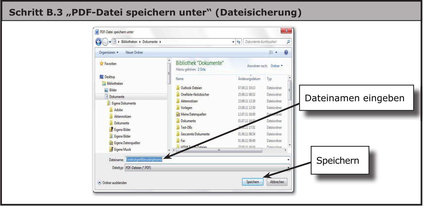 Dialog von Datei speichern