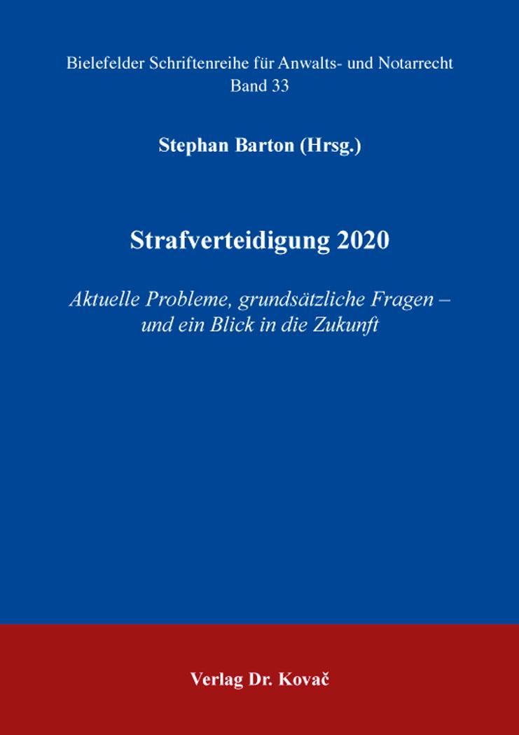 Cover: Strafverteidigung 2020