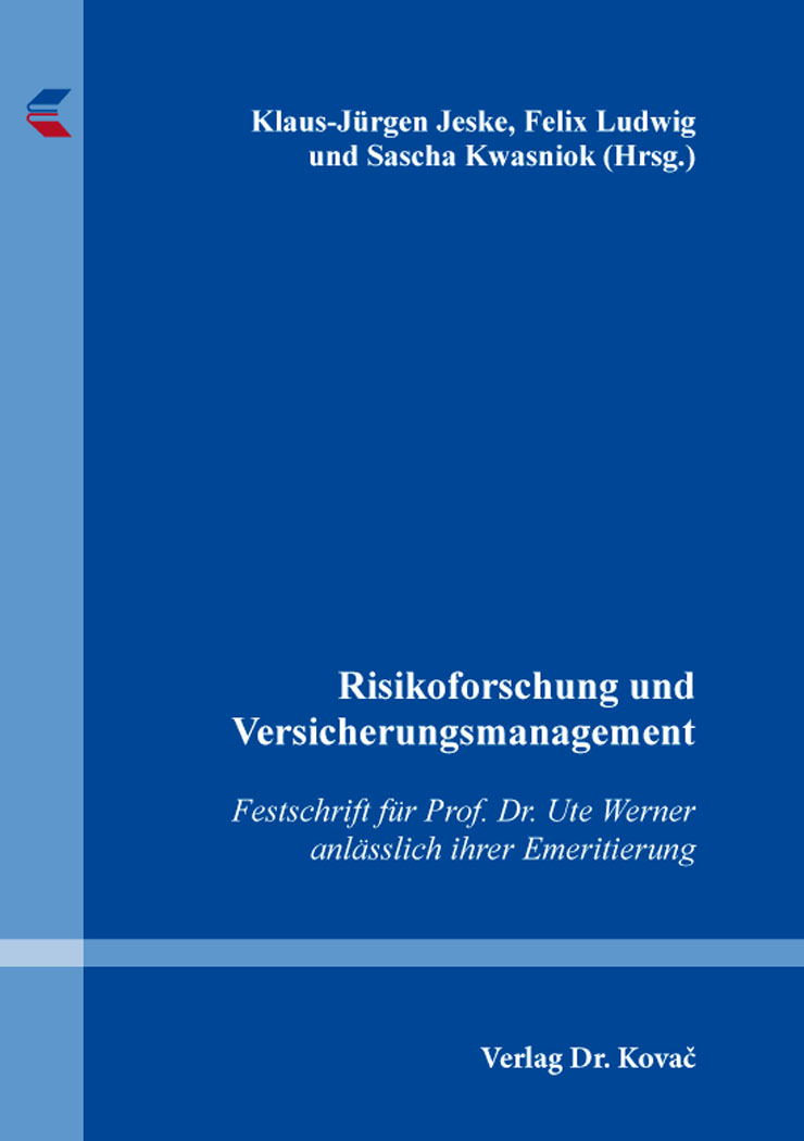 Cover: Risikoforschung und Versicherungsmanagement