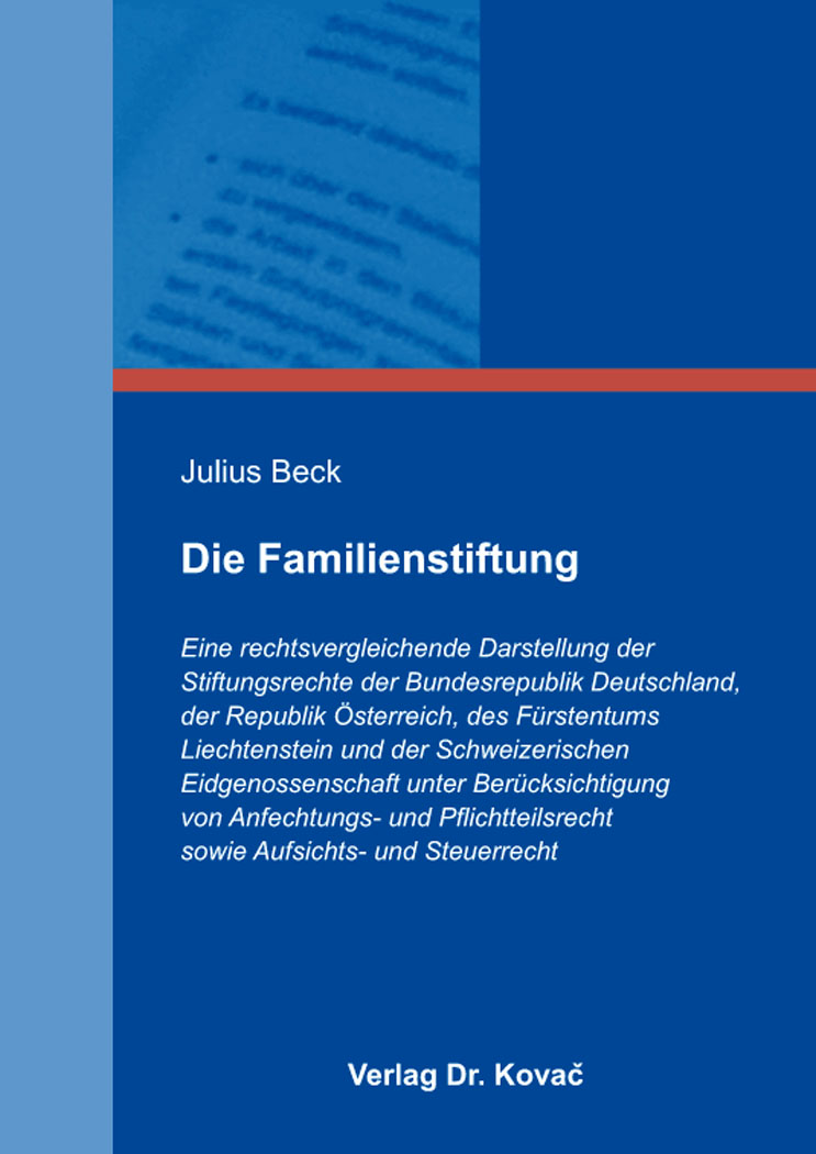 Cover: Die Familienstiftung