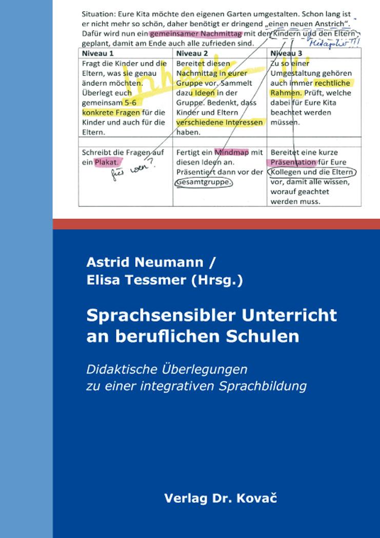 Cover: Sprachsensibler Unterricht an beruflichen Schulen