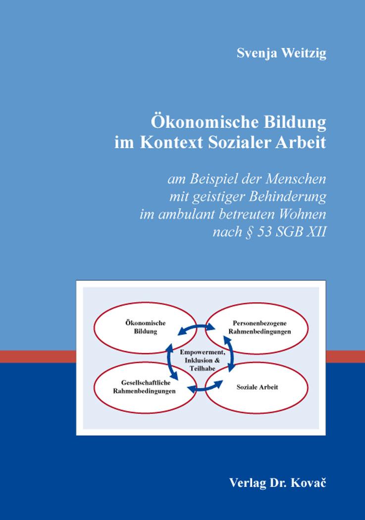 Cover: Ökonomische Bildung im Kontext Sozialer Arbeit