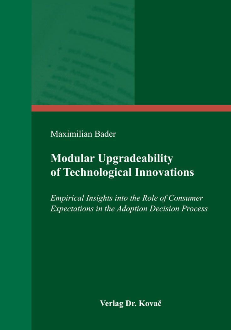 Cover: Modular Upgradeability of Technological Innovations