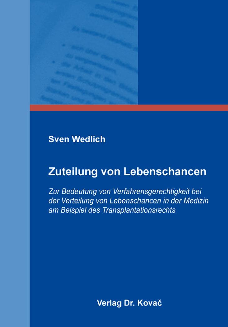 Cover: Zuteilung von Lebenschancen