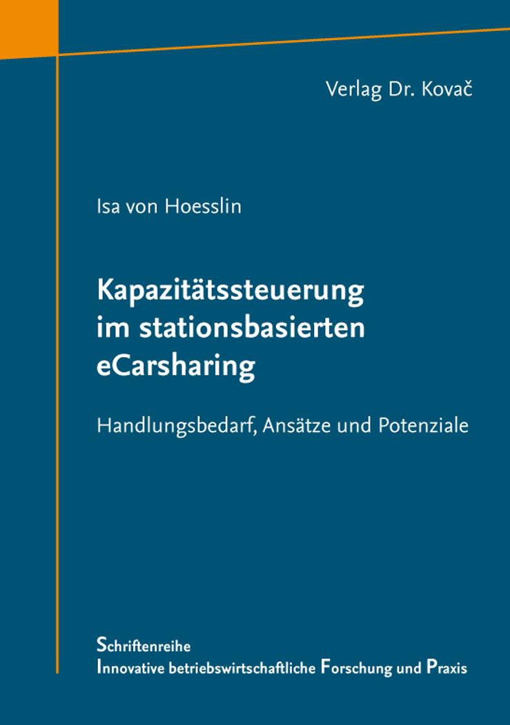 Cover: Kapazitätssteuerung im stationsbasierten eCarsharing