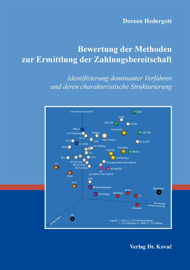 Cover: Bewertung der Methoden zur Ermittlung der Zahlungsbereitschaft