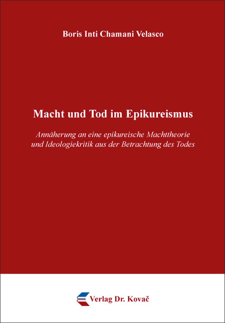 Cover: Macht und Tod im Epikureismus