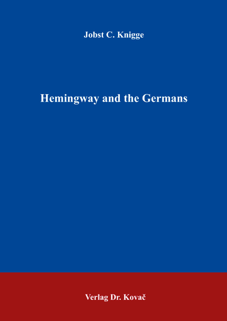 Cover: Hemingway and the Germans