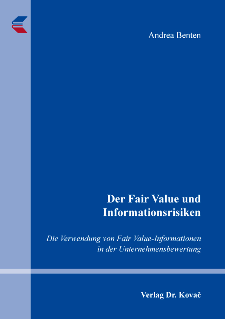 Cover: Der Fair Value und Informationsrisiken