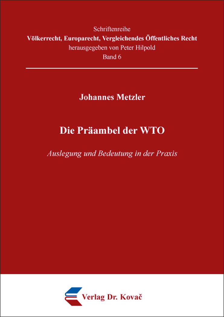 Cover: Die Präambel der WTO