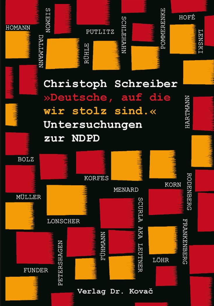 Cover: »Deutsche, auf die wir stolz sind.« Untersuchungen zur NDPD