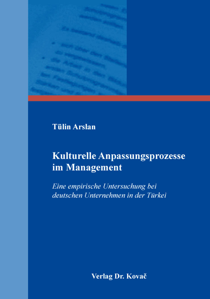 Cover: Kulturelle Anpassungsprozesse im Management