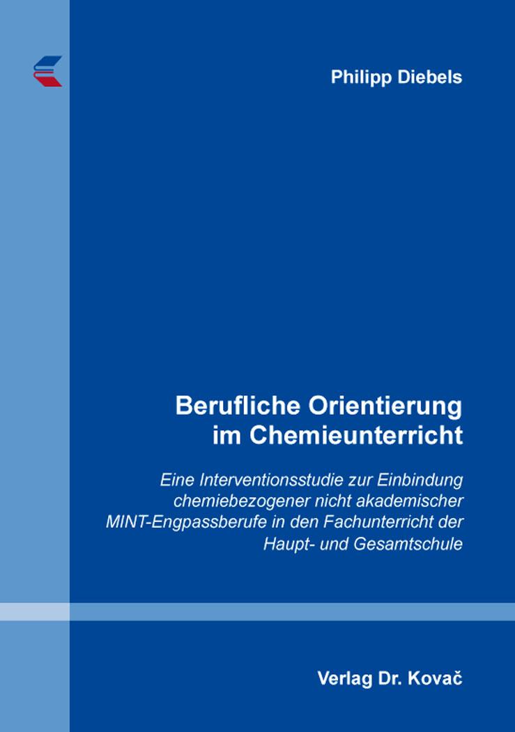 Cover: Berufliche Orientierung im Chemieunterricht