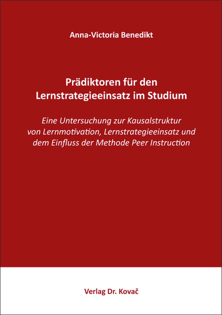 Cover: Prädiktoren für den Lernstrategieeinsatz im Studium