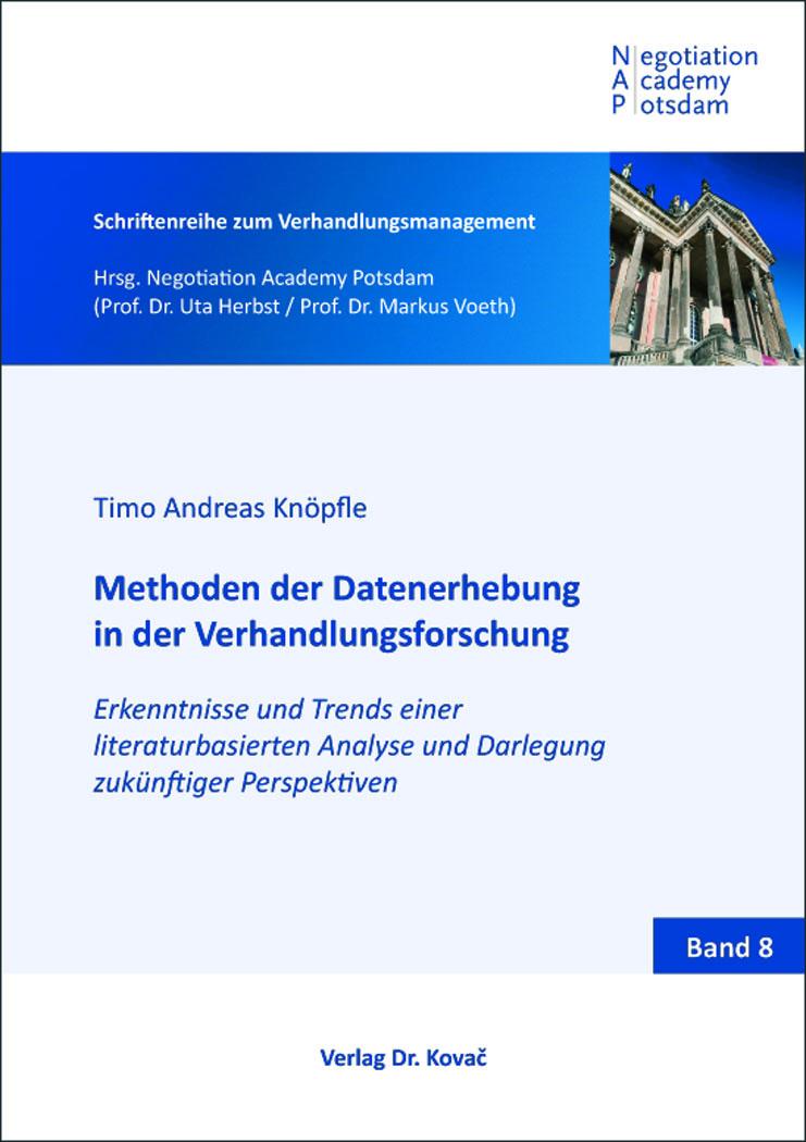 Cover: Methoden der Datenerhebung in der Verhandlungsforschung