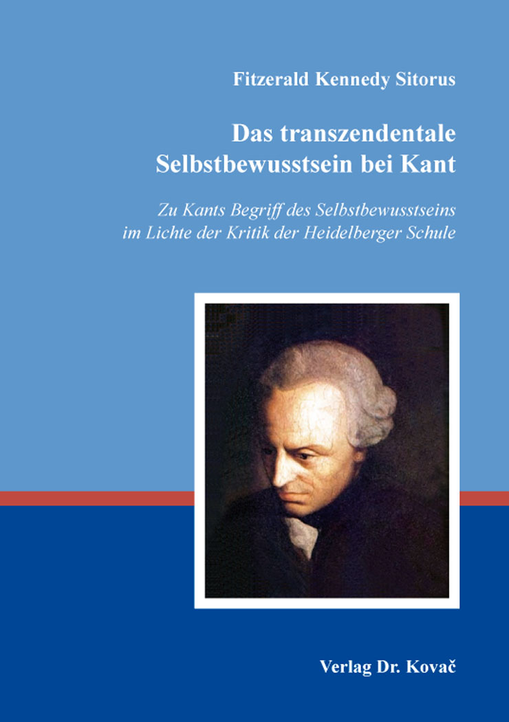 Cover: Das transzendentale Selbstbewusstsein bei Kant