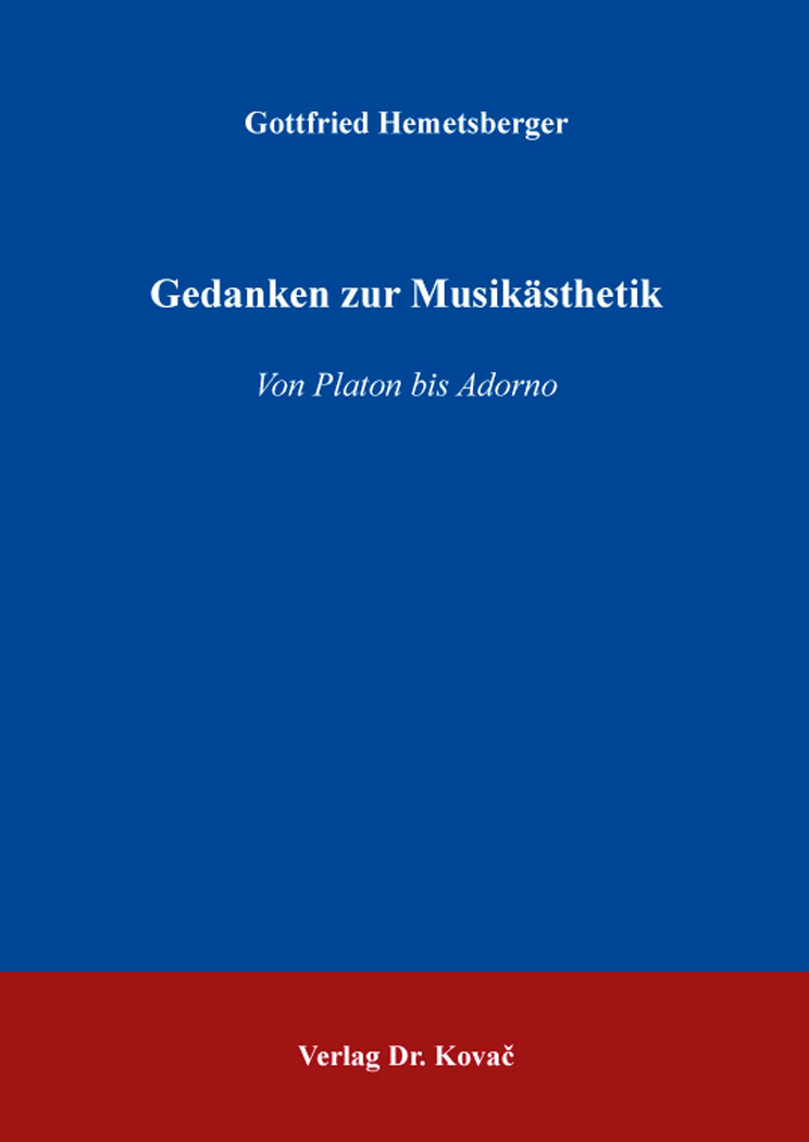 Cover: Gedanken zur Musikästhetik