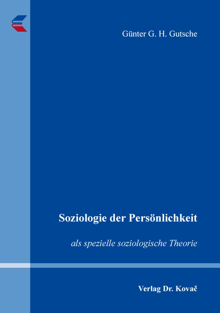 Cover: Soziologie der Persönlichkeit
