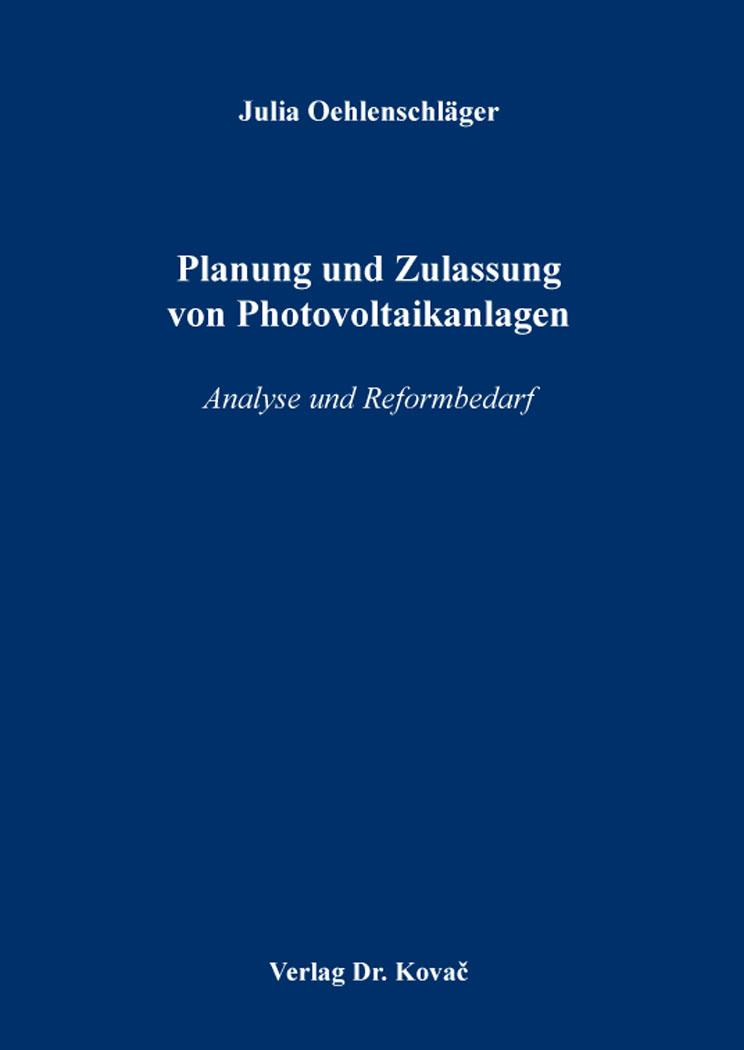 Cover: Planung und Zulassung von Photovoltaikanlagen