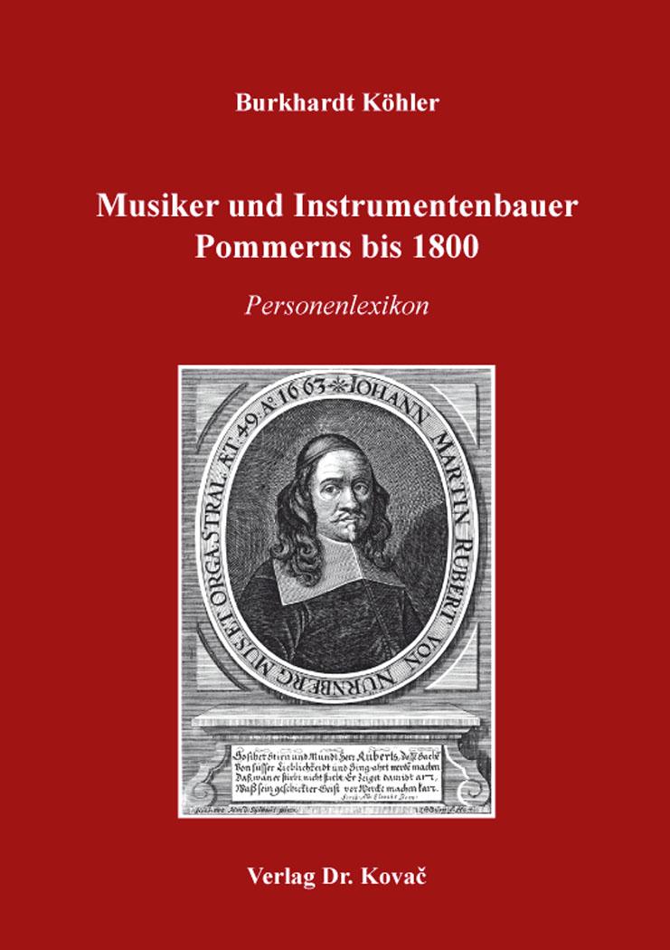 Cover: Musiker und Instrumentenbauer Pommerns bis 1800