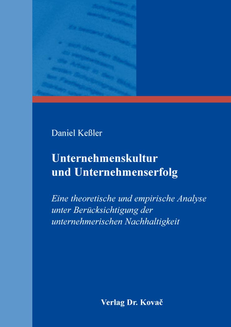 Cover: Unternehmenskultur und Unternehmenserfolg