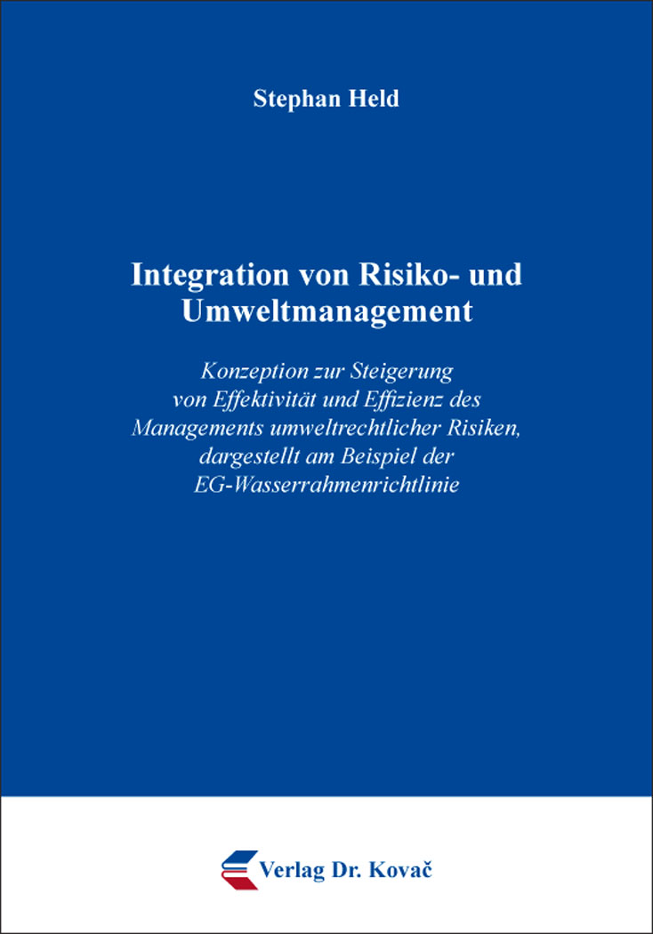 Cover: Integration von Risiko- und Umweltmanagement