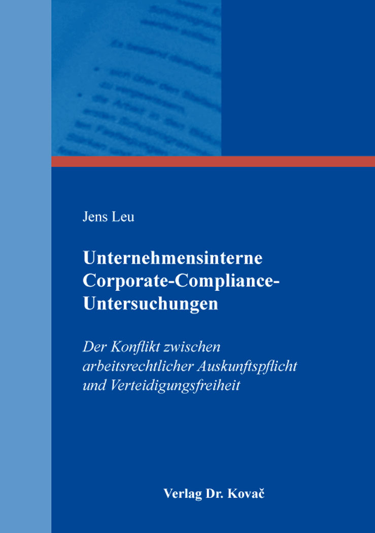 Cover: Unternehmensinterne Corporate-Compliance-Untersuchungen