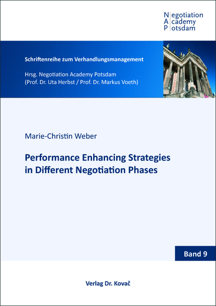Cover: Performance Enhancing Strategies in Different Negotiation Phases