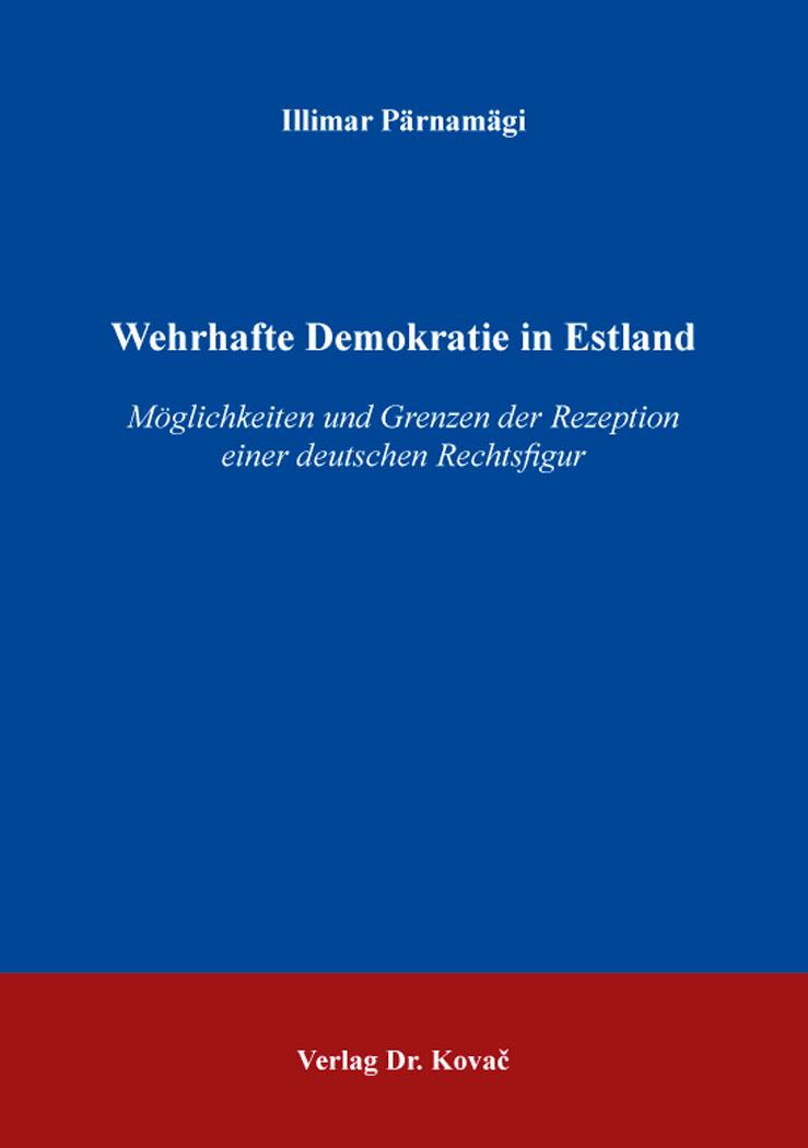 Cover: Wehrhafte Demokratie in Estland
