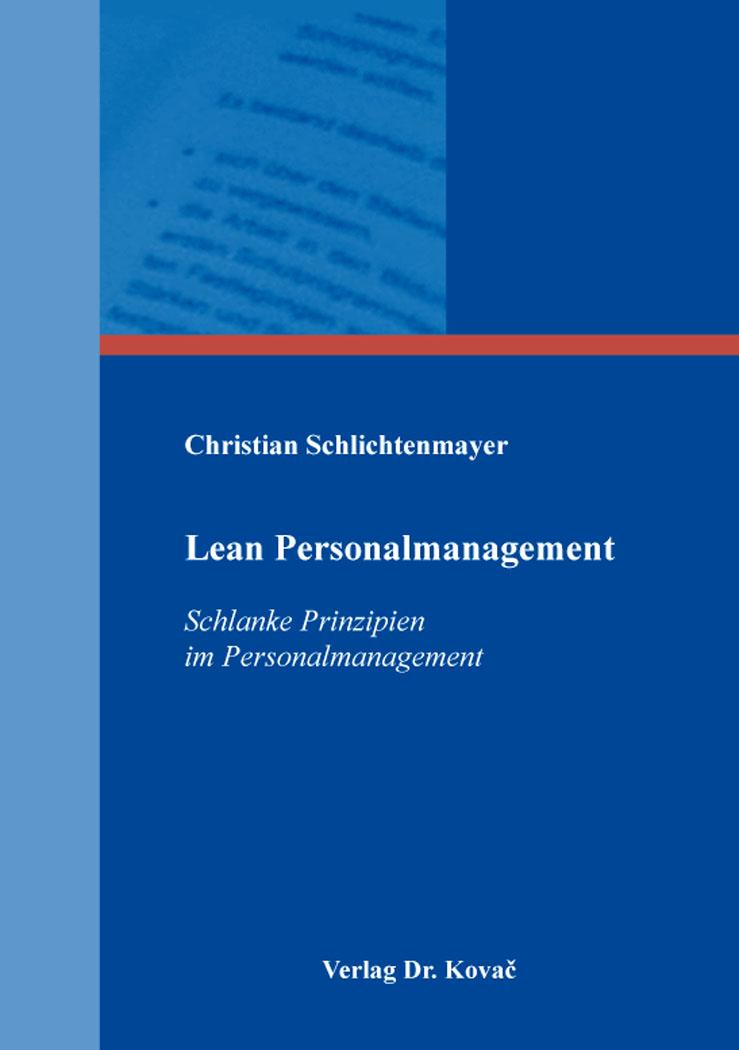 Cover: Lean Personalmanagement