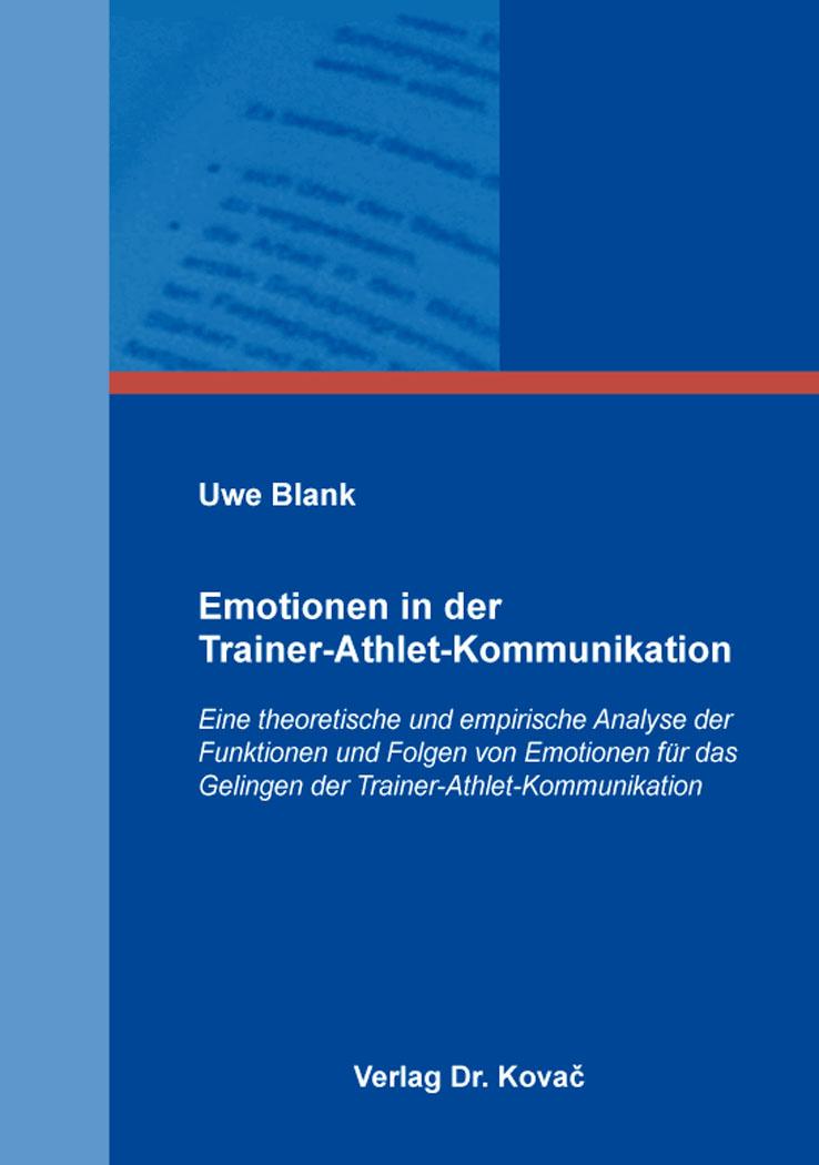 Cover: Emotionen in der Trainer-Athlet-Kommunikation