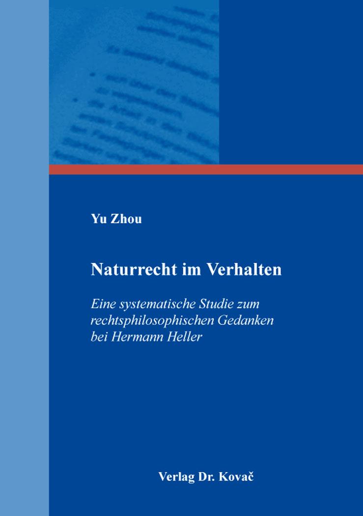 Cover: Naturrecht im Verhalten
