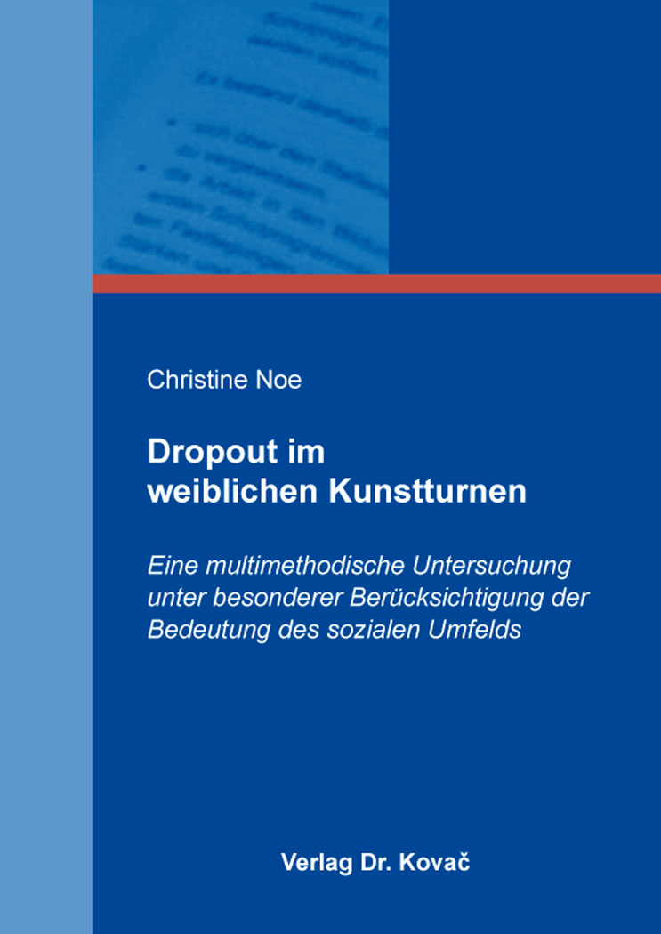 Cover: Dropout im weiblichen Kunstturnen