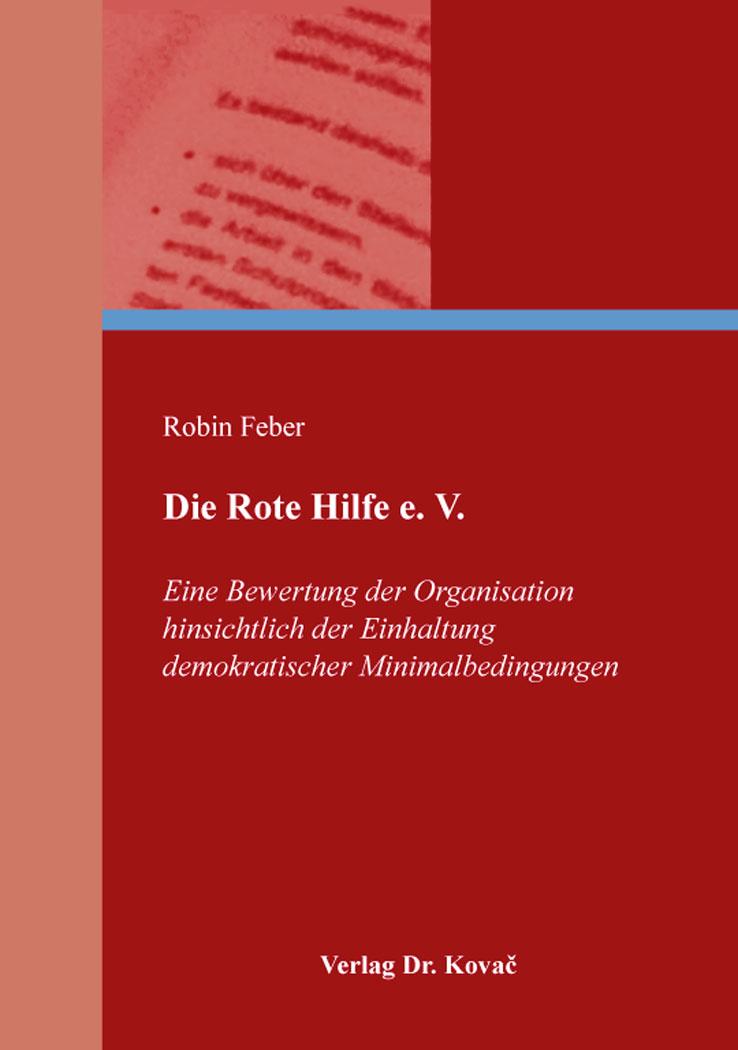 Cover: Die Rote Hilfe e. V.