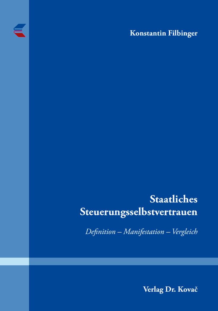 Cover: Staatliches Steuerungsselbstvertrauen
