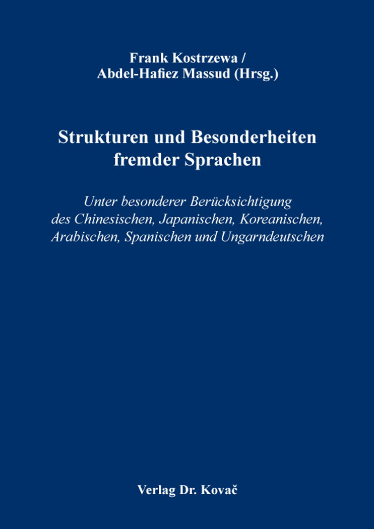 Cover: Strukturen und Besonderheiten fremder Sprachen