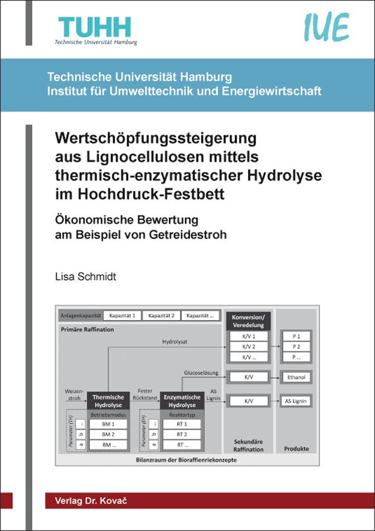 Cover: Wertschöpfungssteigerung aus Lignocellulosen mittels thermisch-enzymatischer Hydrolyse im Hochdruck-Festbett