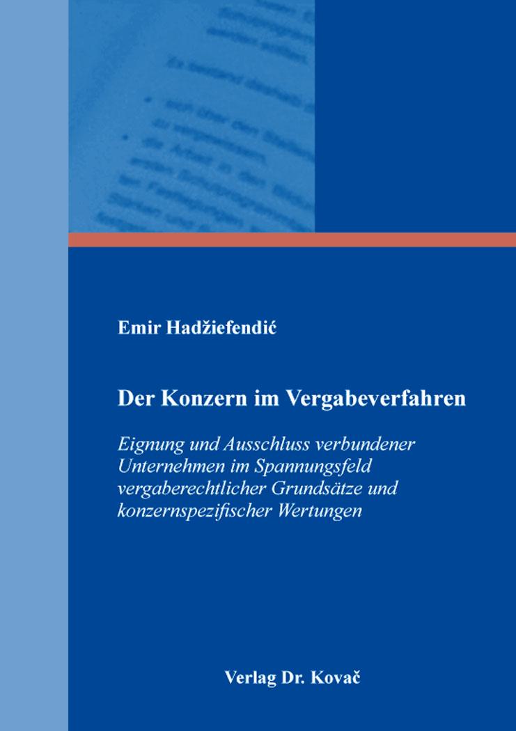 Cover: Der Konzern im Vergabeverfahren