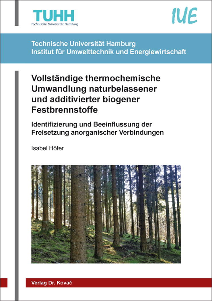 Cover: Vollständige thermochemische Umwandlung naturbelassener und additivierter biogener Festbrennstoffe