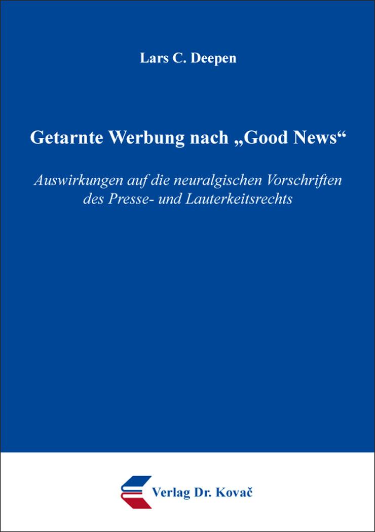 "Cover: Getarnte Werbung nach ""Good News"""