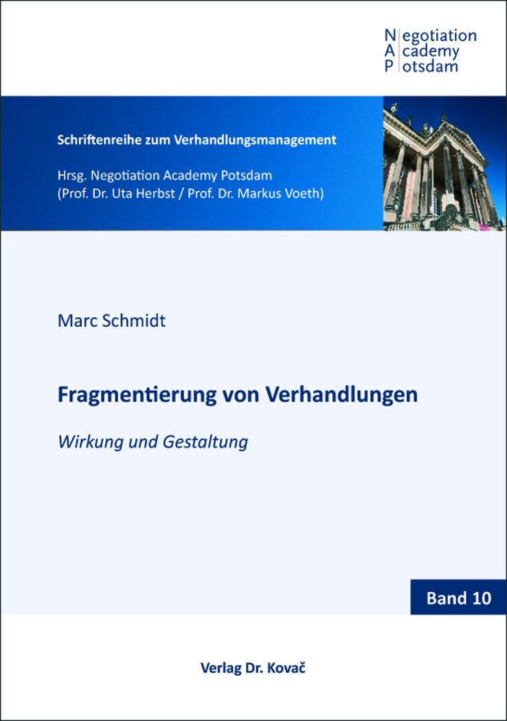 Cover: Fragmentierung von Verhandlungen