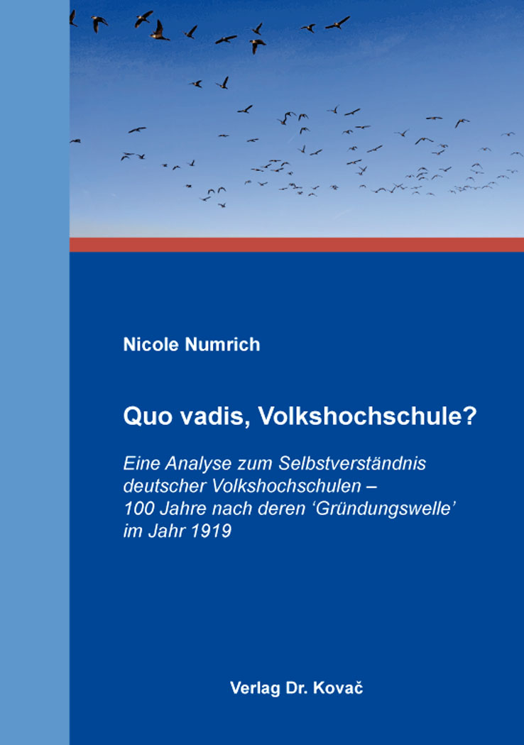 Cover: Quo vadis, Volkshochschule?