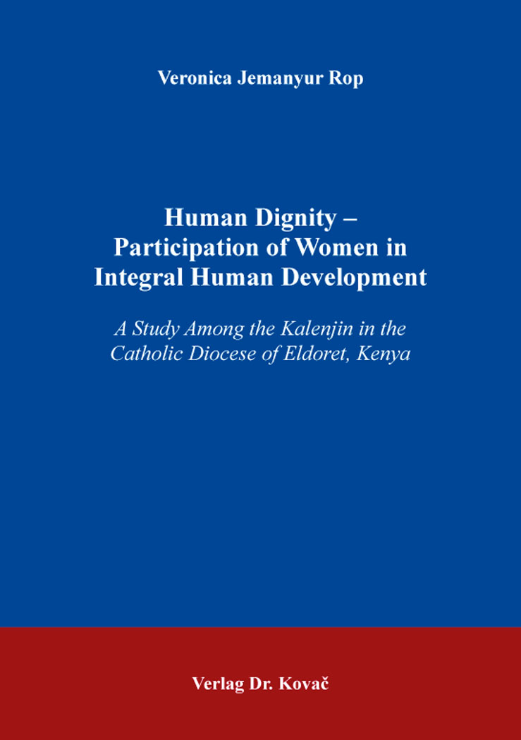Cover: Human Dignity – Participation of Women in IntegralHumanDevelopment
