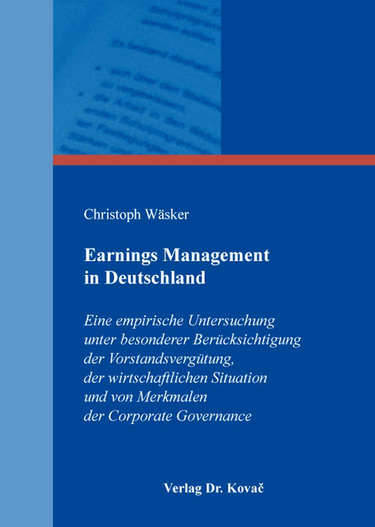Cover: Earnings Management in Deutschland