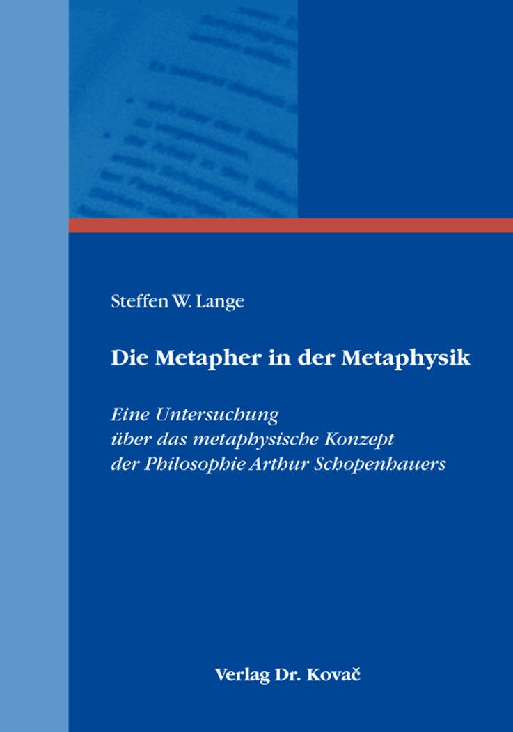 Cover: Die Metapher in der Metaphysik
