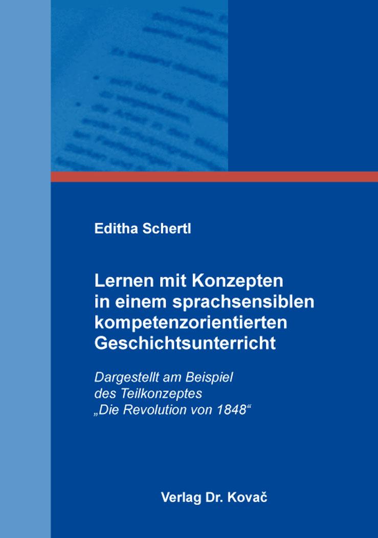 Cover: Lernen mit Konzepten in einem sprachsensiblen kompetenzorientierten Geschichtsunterricht