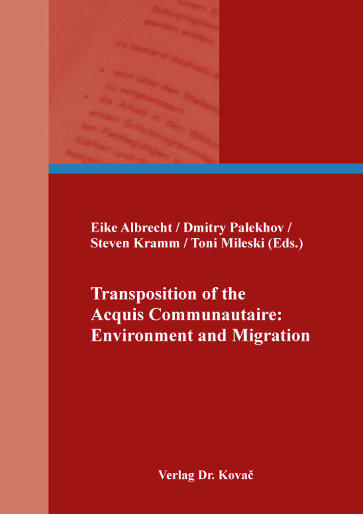 Cover: Transposition of the Acquis Communautaire: Environment and Migration