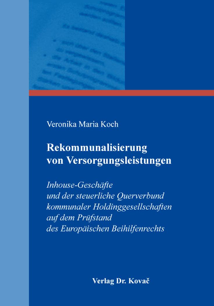 Cover: Rekommunalisierung von Versorgungsleistungen