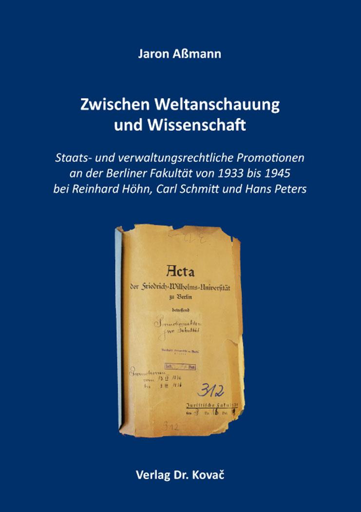 Cover: Zwischen Weltanschauung und Wissenschaft