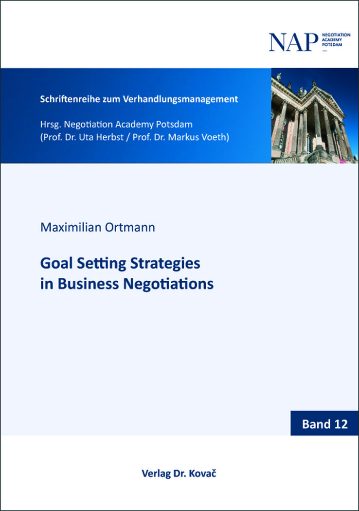 Cover: Goal Setting Strategies in Business Negotiations